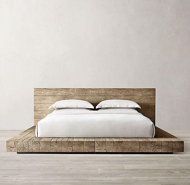 Aspen French Oak Platform Bed In 2020 With Images Rustic Platform Bed Bedroom Bed Design
