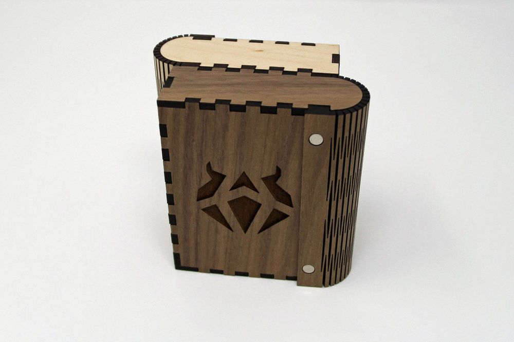 Mtg Duel Deck Box Pattern Lasered By Me Box Patterns Deck Box Deck Patterns