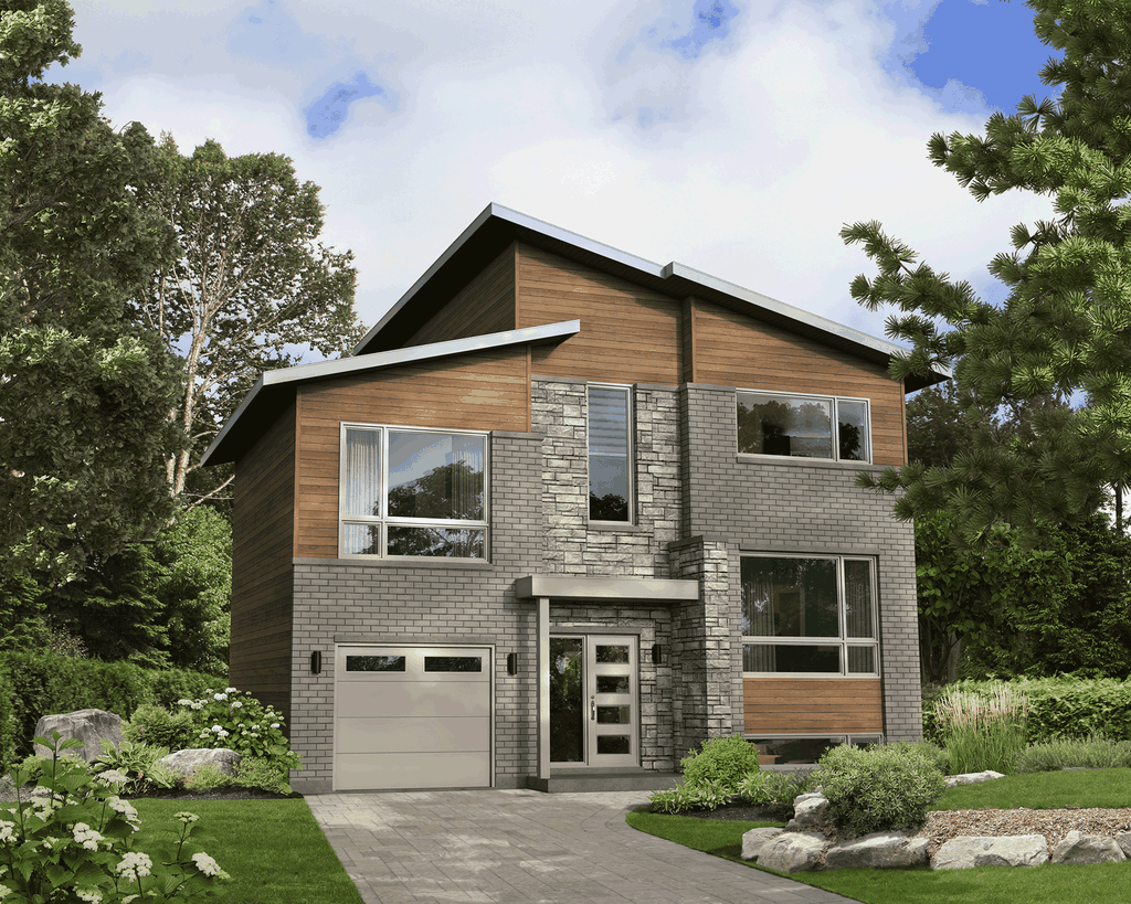 Contemporary Style House Plan 3 Beds 1 5 Baths 1687 Sq Ft Plan 25 4916