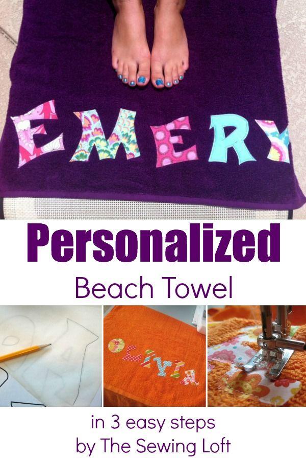 Personalized Beach Towel Personalized Beach Towel