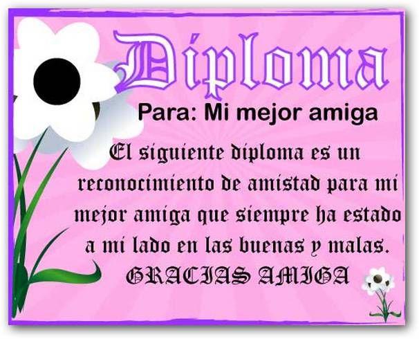 Diploma amigos