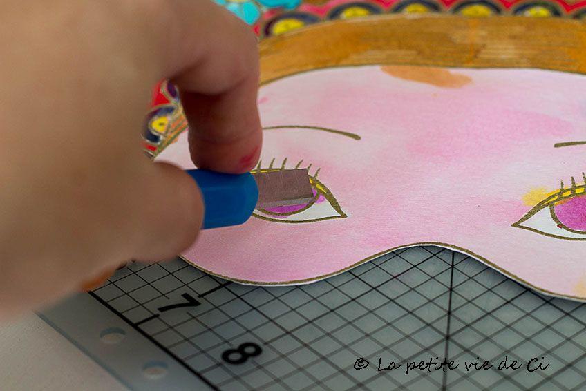 Masques - Aquarellum - Princesses -Déguisements - Sentosphère - DIY - jeux de construction de maison en d