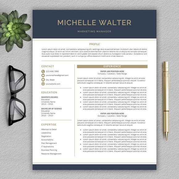 Resume Template CV Template by ProGraphicDesign on - graphic design invoice sample