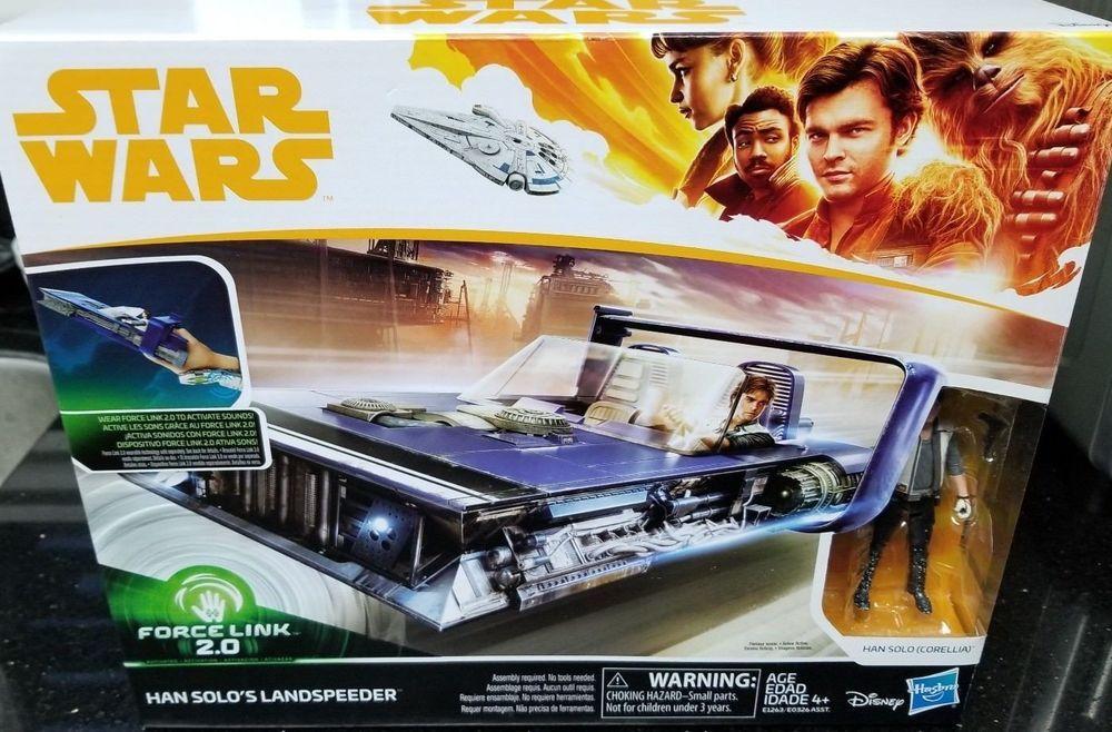 """NEW Star Wars Force Link 2 0 Han Solo Landspeeder And Figure 3.75/"""""""