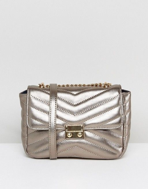 c68e164756e Pieces Rose Gold Cross Body Bag | ASOS - Gold cross, Crossbody bag ...