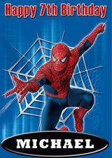 Spiderman Birthday Card Ebay Spiderman Cards Birthday Cards For Boys Spiderman Birthday