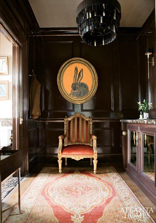 georgianadesign:  Gentleman's bath by Fernandez; True Interiors. Atlanta Homes; Lifestyles.