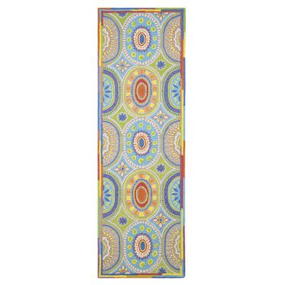 Company C High Jinks Blue/Yellow/Green Indoor Area Rug Rug Size: