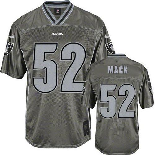 Texans J.J. Watt jersey Nike Raiders  52 Khalil Mack Grey Men s Stitched  NFL Elite Vapor 6e9d80e93