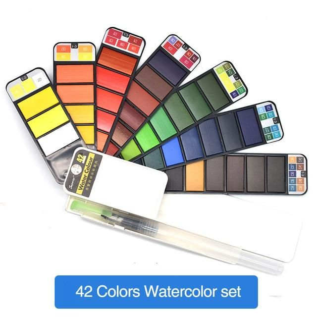 Light Drawing Pad Watercolor Kit Watercolor Paint Set Pen