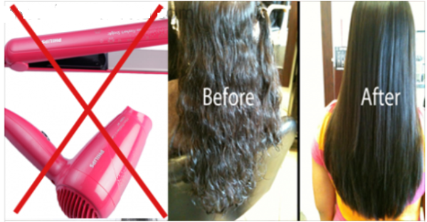 Awesome Idea How To Straighten Hair Overnight Completely Natural And Without Heat Natural Straight Hair Straighten Hair Without Heat No Heat Straight Hair