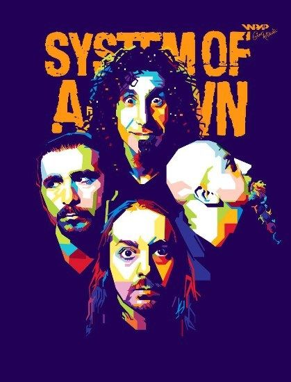 System Of A Down On Behance Sistem Of A Down Grupos De Rock