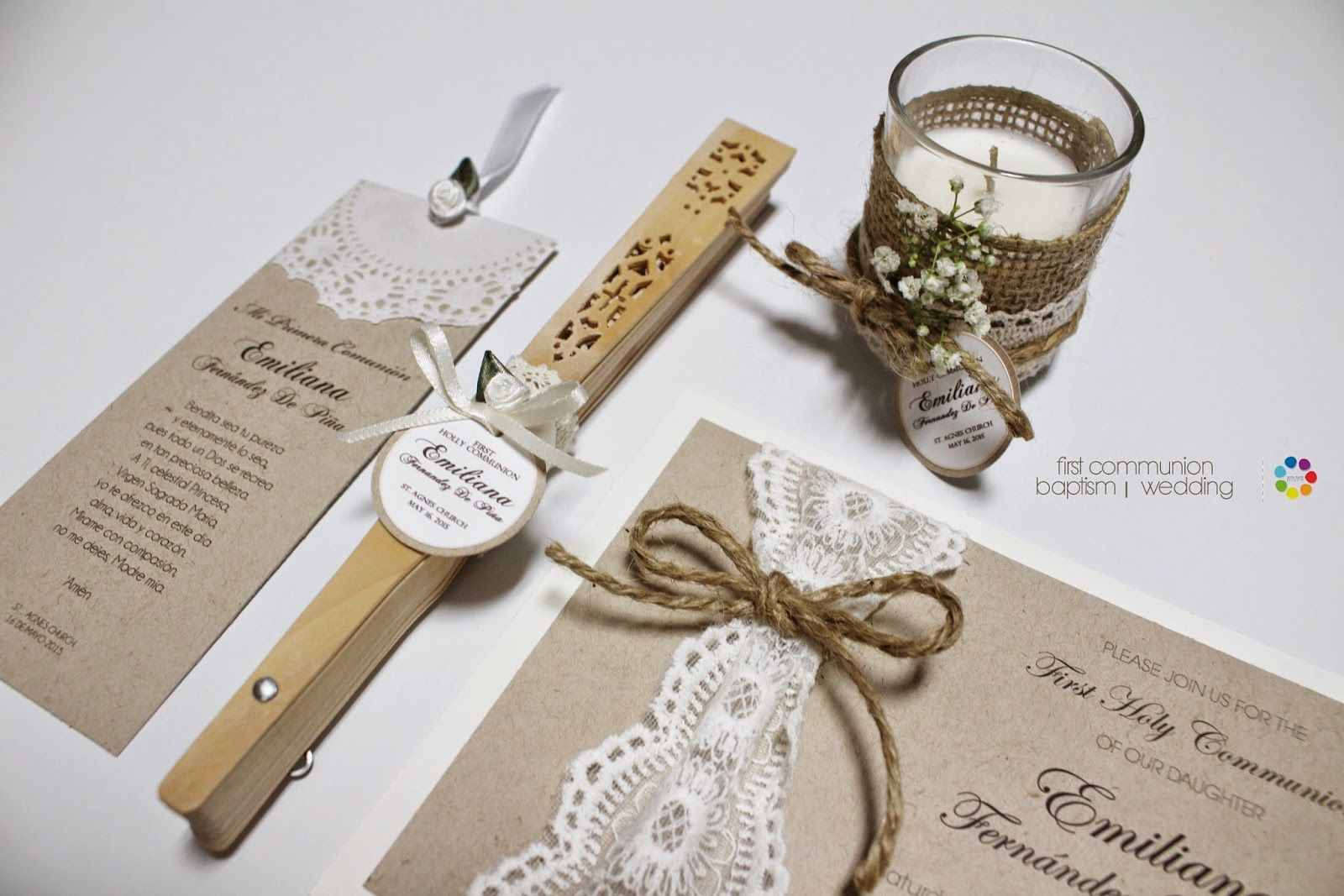 Vintage favors set perfect for First Communion, Baptism, Wedding ...