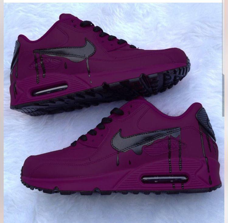 Tyrian Purple and Black Custom Nike Air