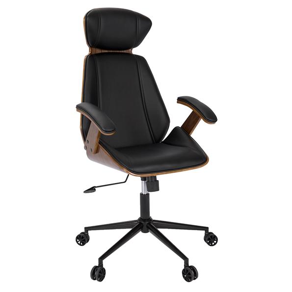 Shalom Black Modern Office Chair