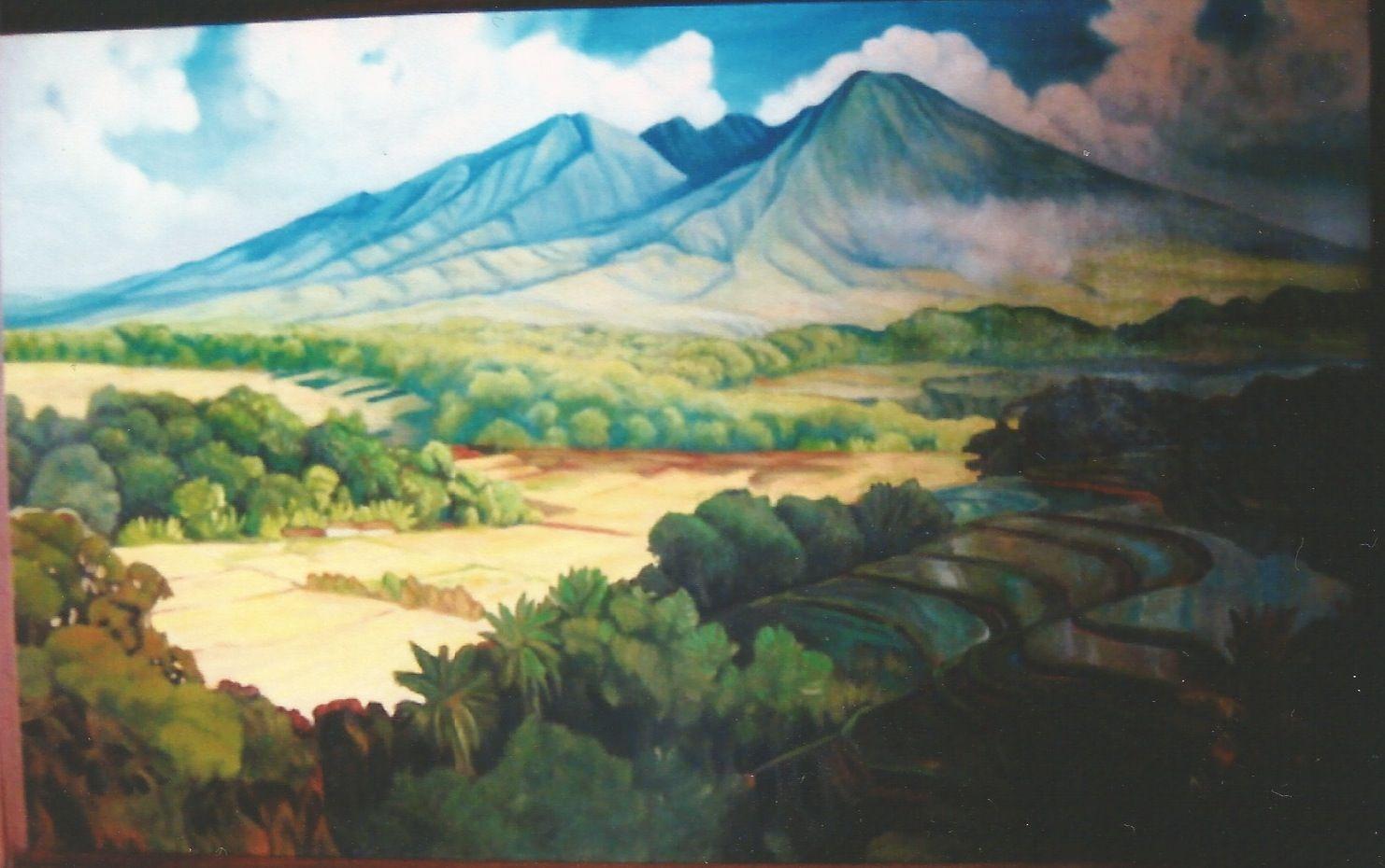 Basuki Abdullah The Landscape Pemandangan Seni Perjalanan