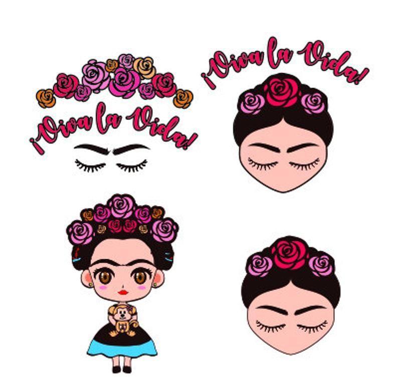 Frida Kahlo Svg Bundle Png Pdf Vector Clipart Vinyl Etsy In 2021 Frida Kahlo Svg Clip Art