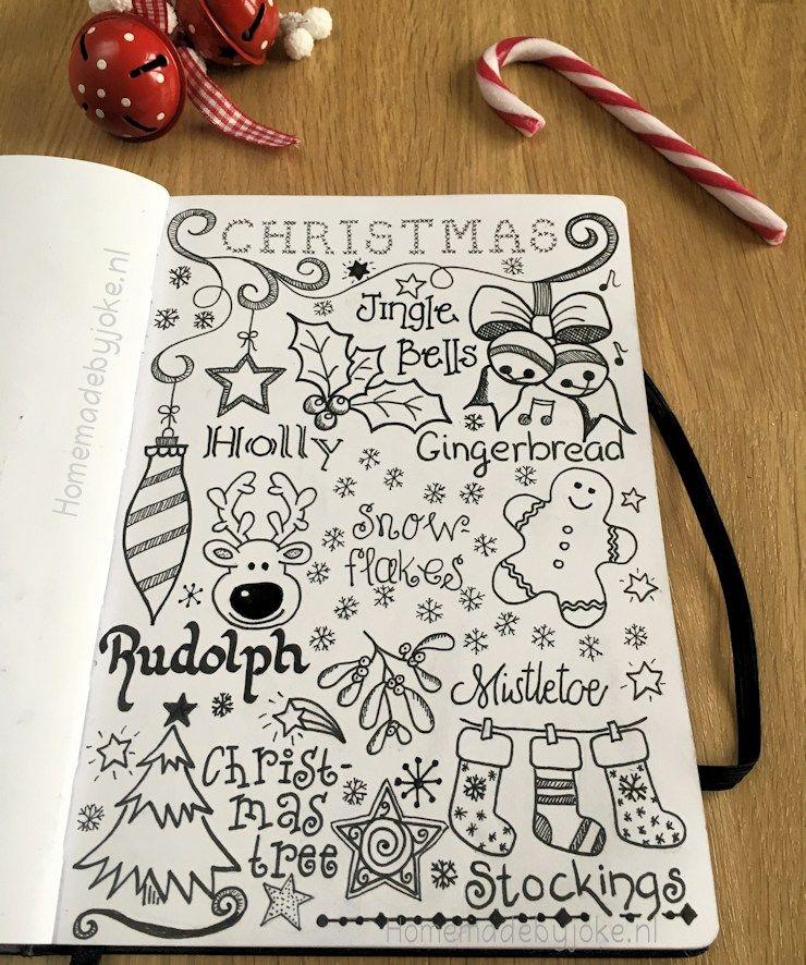 Handlettering en journaling - Kerst - Homemade by Joke