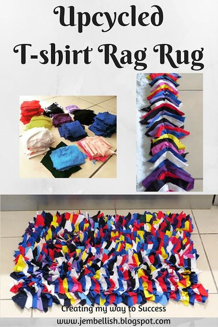 Upcycled T Shirt Rag Rug