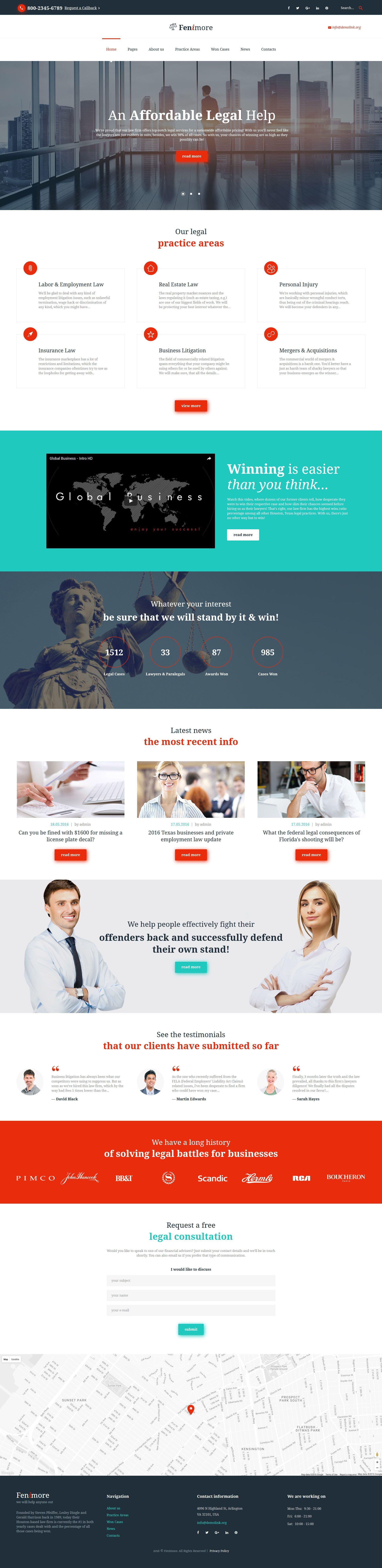 Law firm responsive website template website template modern website theme law firm maxwellsz