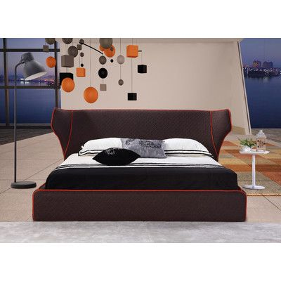 Brayden Studio Delapena Upholstered Platform Bed Upholstery: Chocolate, Size: Queen