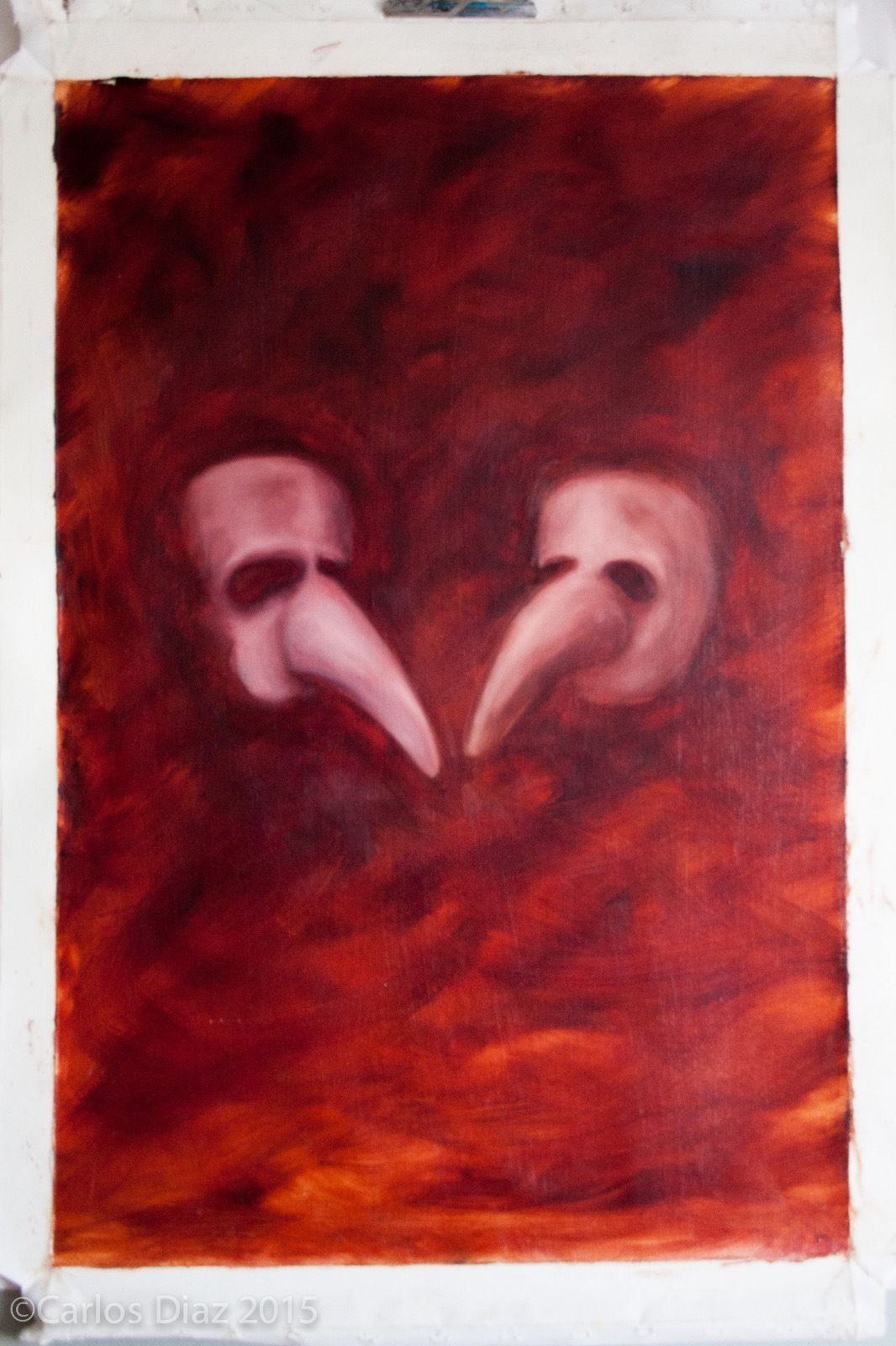 For sale-not out of stock! Valentines: Original Oil On Canvas