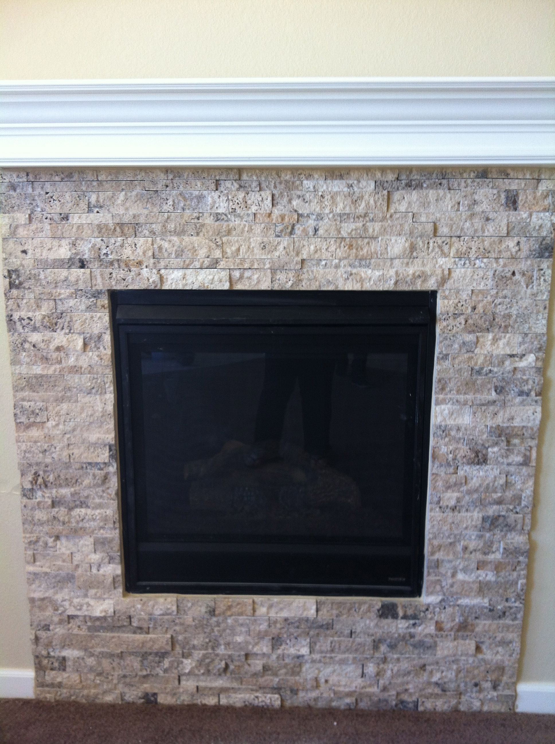 this is a fantastic tile to do this fireplace project with. an