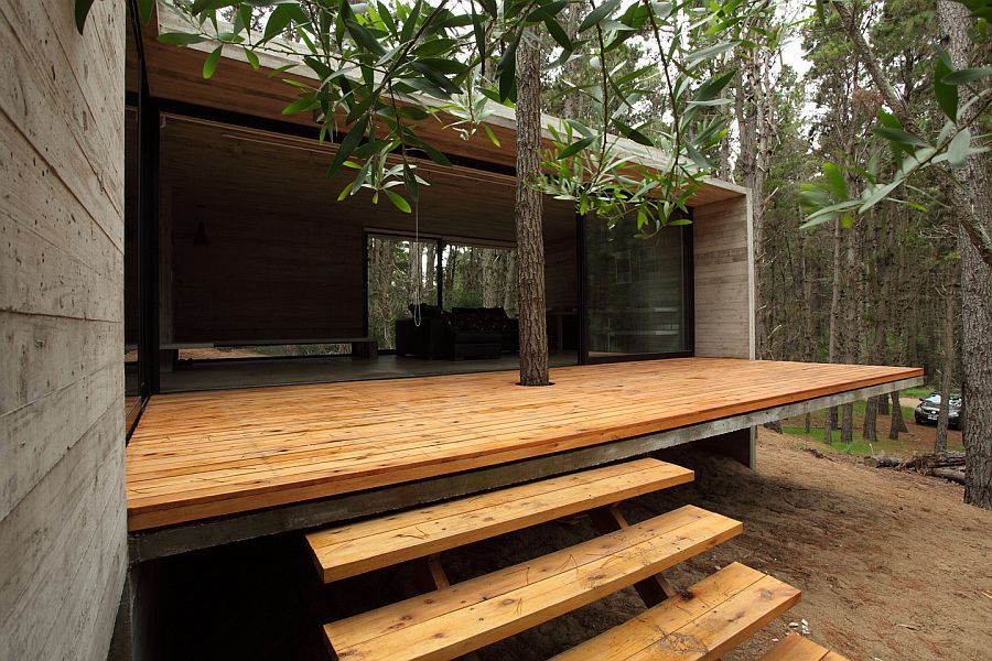 Nice Wood Terrace Forest JD House By BAK Architects In Argentina