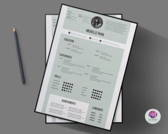 1 Seite CV Vorlage (+ Anschreiben + Referenzen Vorlage) / 1 Seite ...