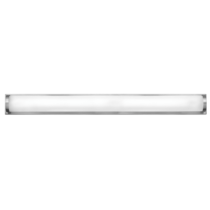 Photo of Hinkley Lighting 53844 2 Light ADA-compliant LED bathroom bath bar with white Sh brushed lamp made of brushed nickel