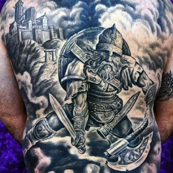 70 viking tattoos for men germanic norse seafarer designs viking warrior tattoos warrior. Black Bedroom Furniture Sets. Home Design Ideas