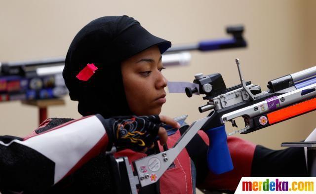 Atlet penembak asal Qatar, Bahya Mansour Al Hamad.