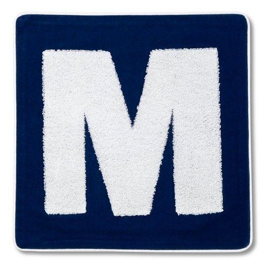 """Varsity Monogram Pillow Cover 16"""""""