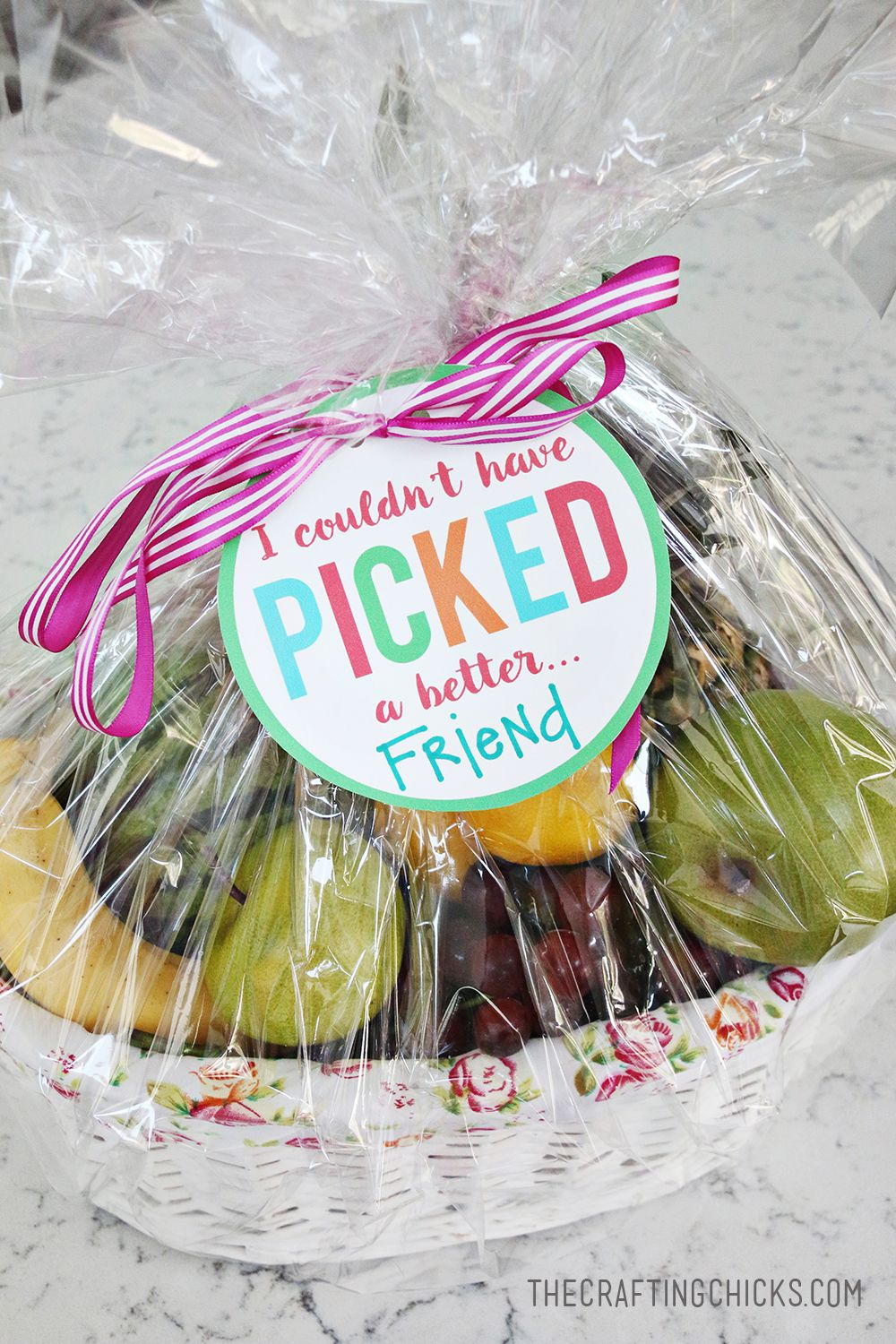 Fruit basket gift idea with free printable tag printable tags fruit basket gift idea with free printable tag negle Gallery