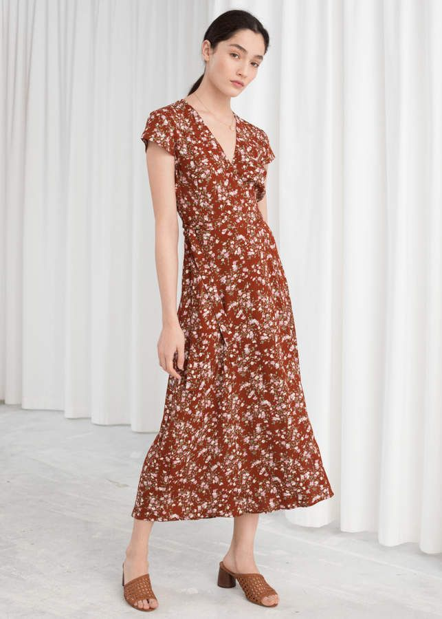 And Other Stories Floral Midi Wrap Dress May V 225