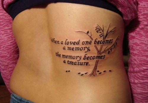 Tattoo In Memory Of Grandmother Tato Ide