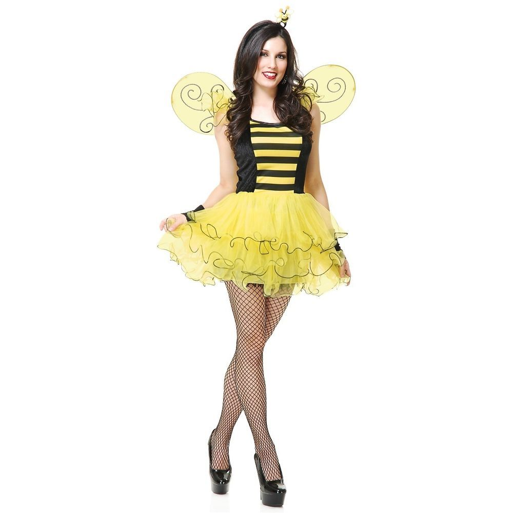 Sweet Bee Costume Adult Bumblebee Halloween Fancy Dress  sc 1 st  Pinterest & Sweet Bee Costume Adult Bumblebee Halloween Fancy Dress | Halloween ...