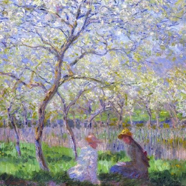 Love the calm purple colors of this Monet art.