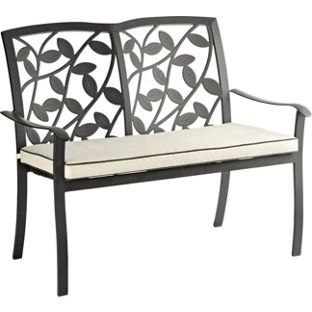 Super Lucca Garden Bench With Cushion From Homebase Co Uk New Ibusinesslaw Wood Chair Design Ideas Ibusinesslaworg