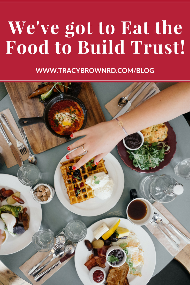 We've got to eat the food to build trust! It's easy to stay in our heads  about how to go about Intuitive Eating. We tend to do a lot …   Eat,