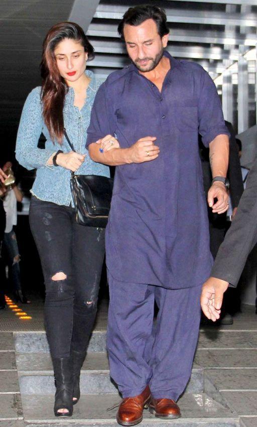 Kareena Kapoor And Saif Ali Khan Spotted At Shilpa Shetty S House The News Track Mens Kurta Designs Designer Clothes For Men Indian Men Fashion