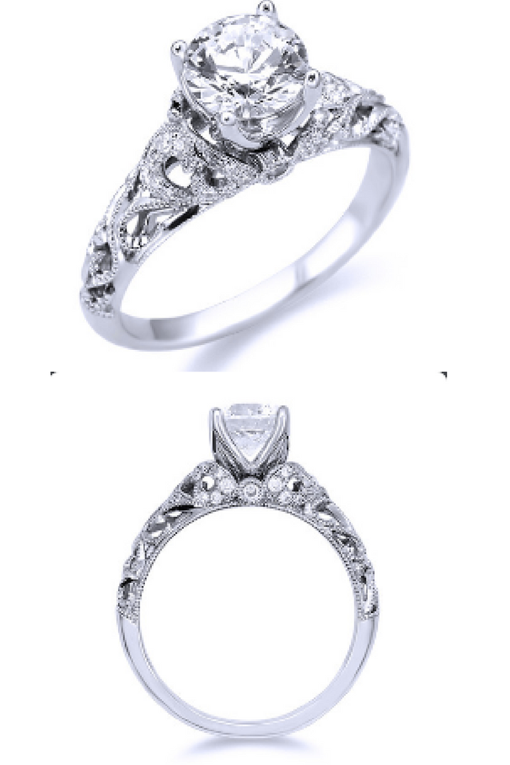 Parade Vintage Inspired Diamond Engagement Ring R3512RD1