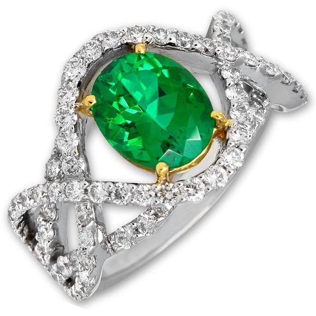 Frederic Sage Green Tourmaline Ring