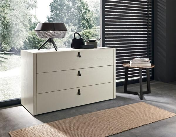 SMA Mobili Modern Feeling Chest of Drawers in Ash or Ash Lacquer