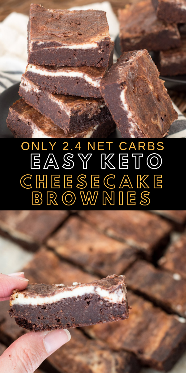 The Best Keto Cheesecake Brownies #ketodesserts