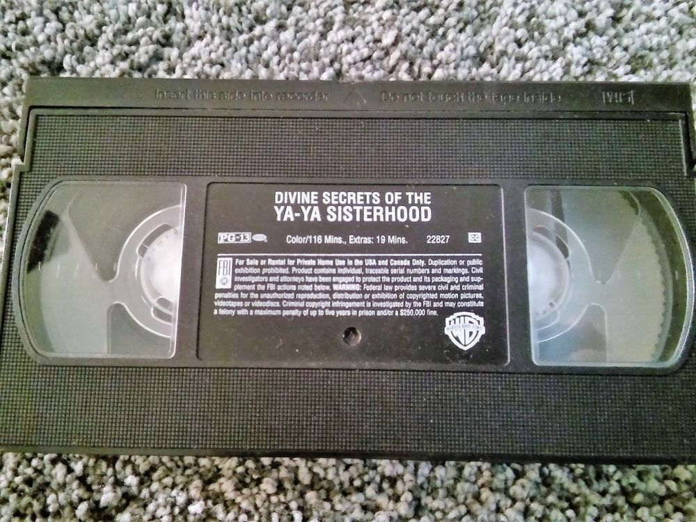 Divine Secrets Of The Ya Ya Sisterhood Vhs 2002 Guc No Box