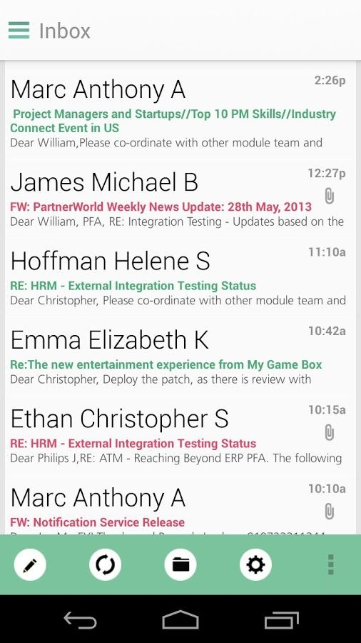 Apk for Android Ginger Mail for OWA Exchange v1.4.9.4c