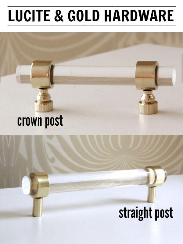 Lucite & Gold Cabinet Hardware | Pinterest | Cabinet hardware ...