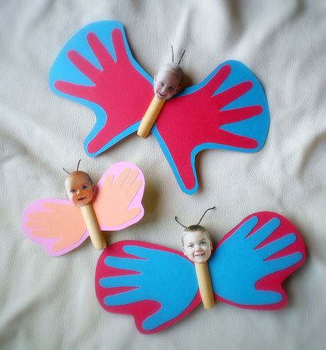 handprint butterflies by lilfishstudios, via Flickr