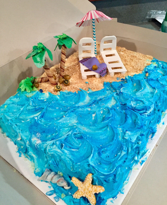 60th Birthday Beach Theme Cake Beach Themed Cakes Themed Cakes